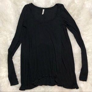 Free People UO Long Sleeve Flowy Knit Tunic Top